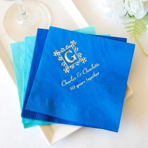 Personalized Bridal Napkins