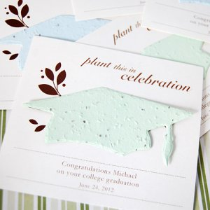 Personalized Designer Graduation Seed Card Favor