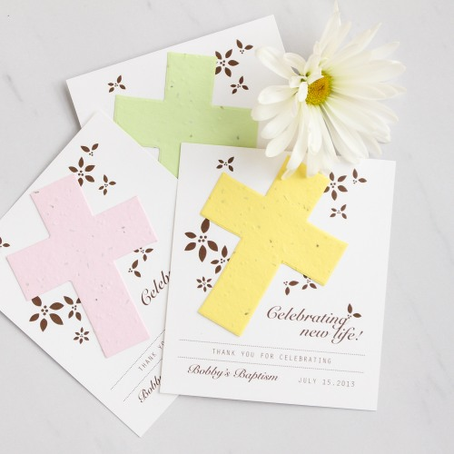 Personalized Designer Religious Seed Card Favors