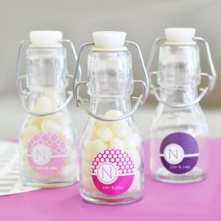 Personalized Birthday Mini Glass Bottle