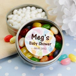 Personalized Baby Shower Clear Top Candy Tin