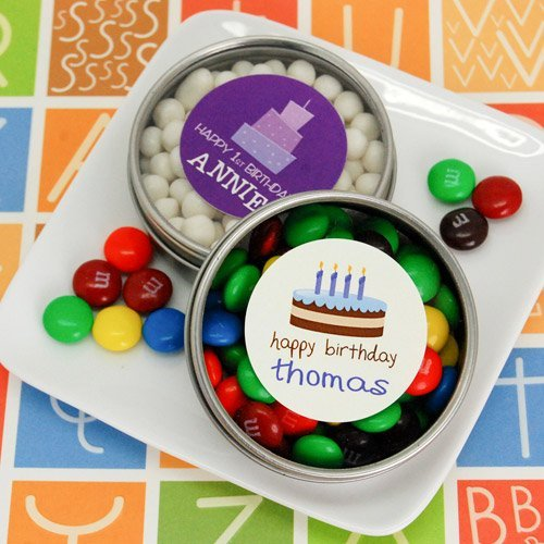 Personalized Clear Top Candy Tins