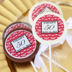 Personalized Chocolate Birthday Lollipop