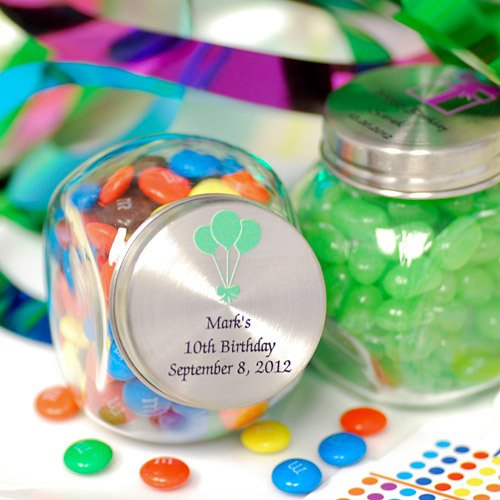 Personalized Birthday Glass Candy Jar