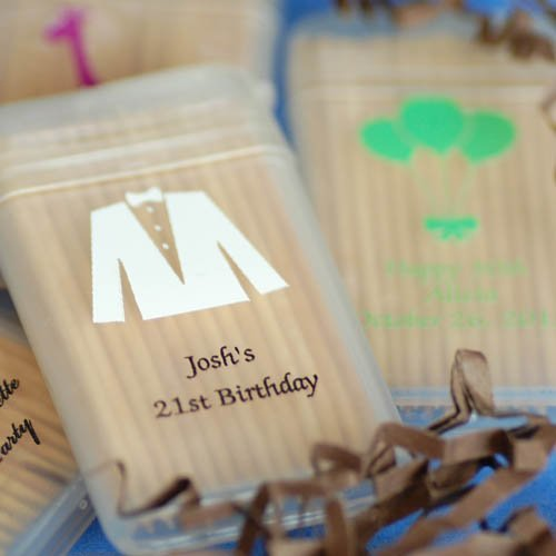 Personalized Birthday Toothpick Favors