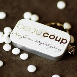 Personalized Party Mint Tin Keychain