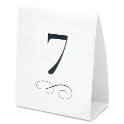 Tent Style Table Number Cards