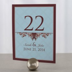 Personalized Victorian Table Number Cards