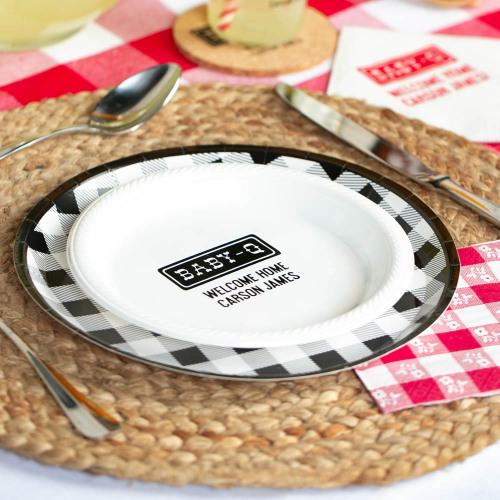 Personalized Baby-q Baby Shower Plastic Plates