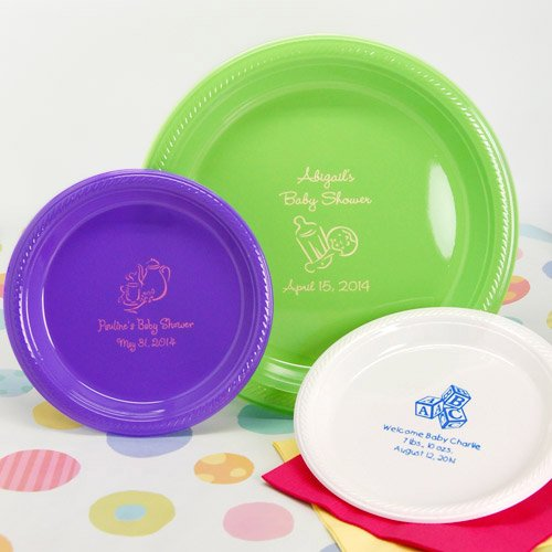 Personalized Baby Shower Plastic Plates