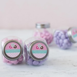 Personalized Mini Glass Birthday Candy Jar