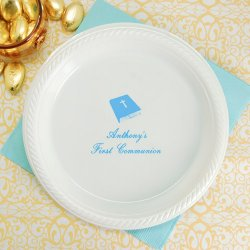 Personalized Round Plastic Party Plates