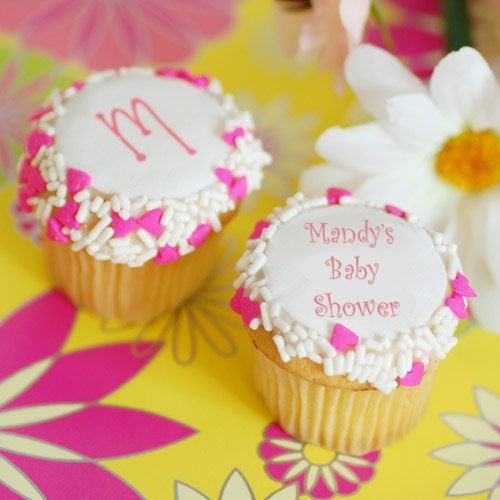 Personalized Mini Baby Shower Cupcakes