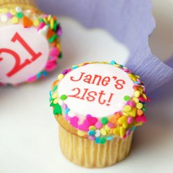 Personalized Mini Birthday Cupcake