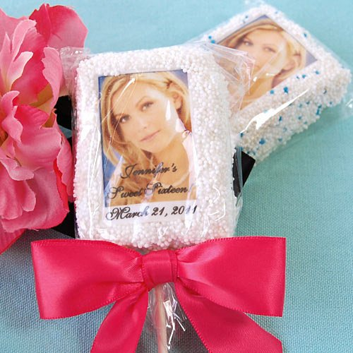 Personalized Photo Birthday Rice Krispy Treat