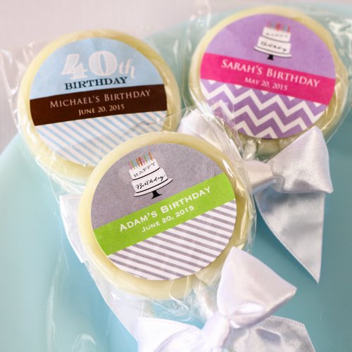 Personalized Birthday Lollipop
