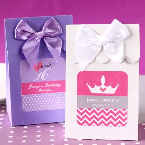 Personalized Teen Birthday Candy Bags