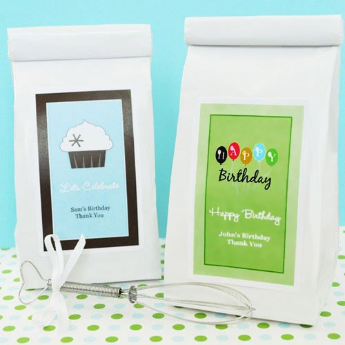 Personalized Birthday Cookie Mix Favor