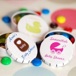 Personalized Snip Snap Baby Shower Favor Tin
