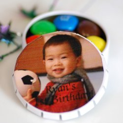 Personalized Snip Snap Birthday Favor Tin