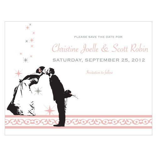 Personalized Vintage Hollywood Save the Date Card