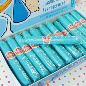 """It's a Boy"" Bubblegum Cigar Favors"