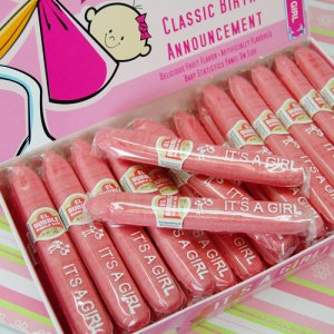 """It's a Girl"" Bubblegum Cigar Favors"