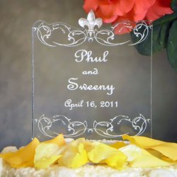 Personalized Custom Shaped Wedding Cake Topper