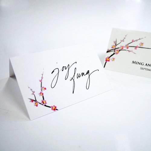 Personalized Mini Cherry Blossoms Place Cards
