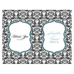 Personalized Damask Printable Program Paper