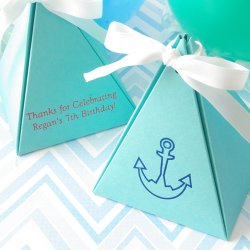Personalized Pyramid Birthday Favor Box
