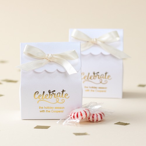 Personalized Scalloped Party Favor Box