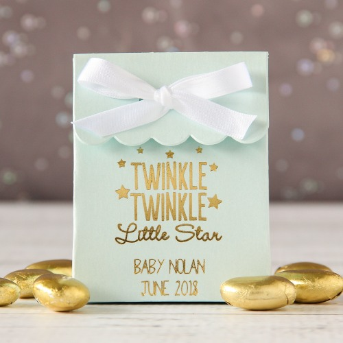Personalized Twinkle Twinkle Scalloped Favor Bag