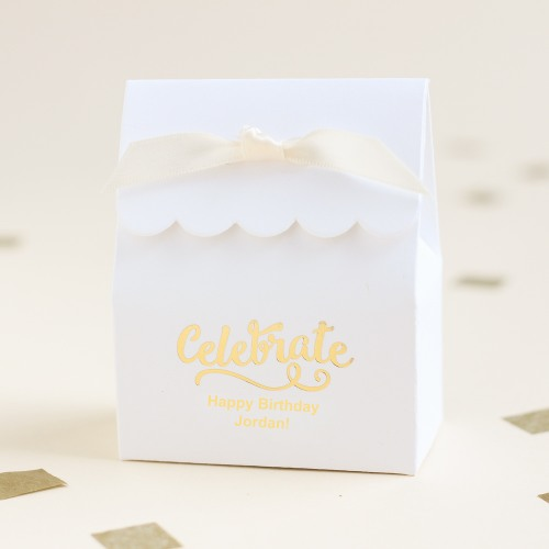 Personalized Scalloped Birthday Favor Box