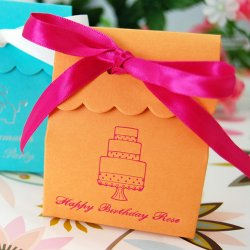 Personalized Scalloped Birthday Favor Bag