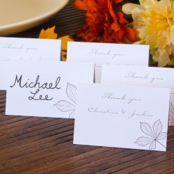 Personalized Autumn Leaves Place Cards