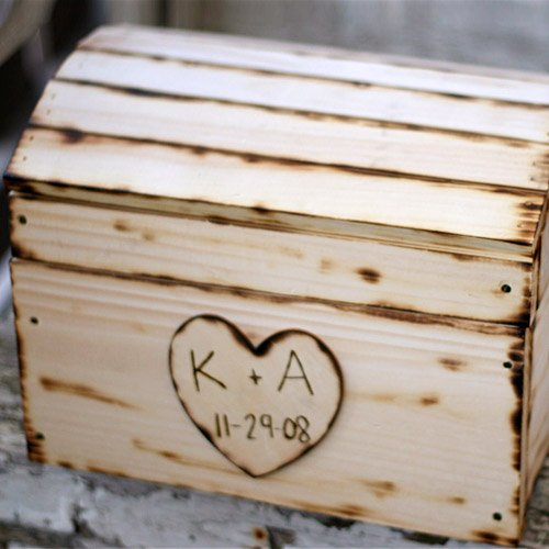 Personalized Wooden Wedding Chest Card Box