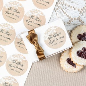 Personalized Round Wedding Labels