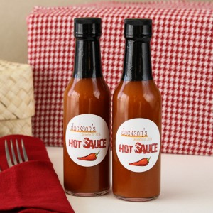 Personalized Birthday Hot Sauce Bottles