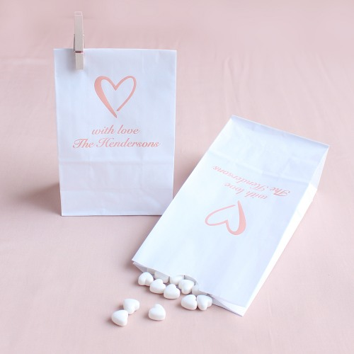Personalized Heart Bridal Goodie Bags
