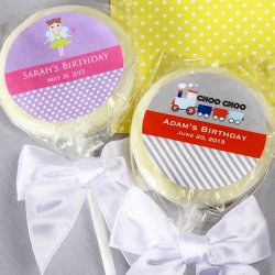 Personalized Kids Birthday Lollipop Favor