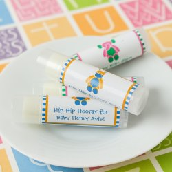 Personalized Lip Balm Baby Shower Favor