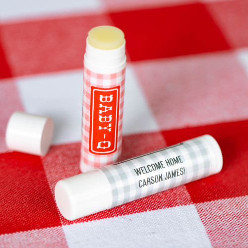 Personalized Baby-q Lip Balm Baby Shower Favor