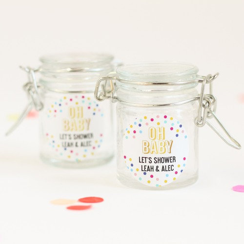 Personalized Oh Baby Favor Jar