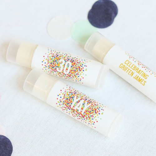 Personalized Lip Balm Birthday Party Favor Birthday Party Supplies