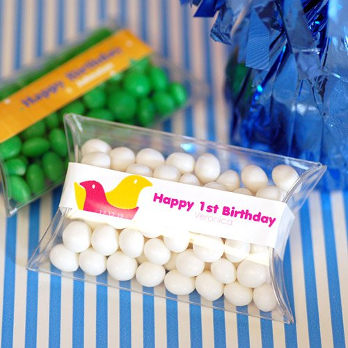 Mini Personalized Birthday Candy Pillow Packs