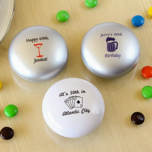 Personalized Adult Birthday M&M tins