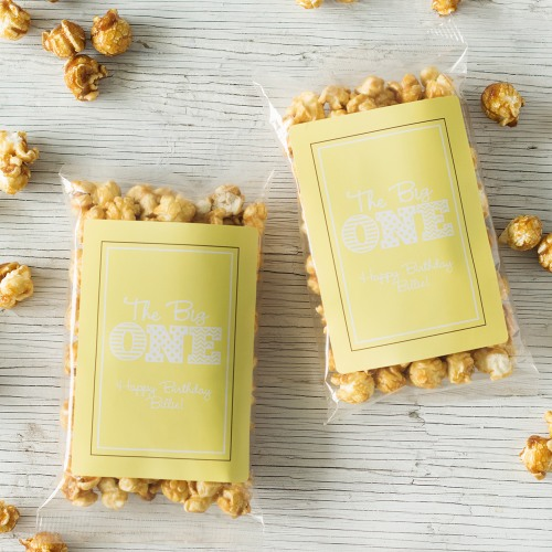 Personalized Big One Birthday Caramel Popcorn