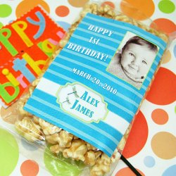 Personalized Birthday Caramel Corn