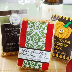 Personalized Holiday Caramel Corn